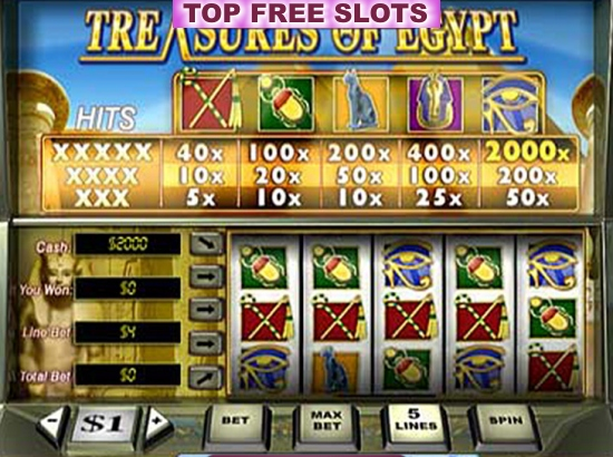 Free Slots.Com Treasures Of Egypt